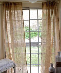 Burlap Curtain Panel