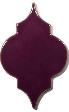 Violet Ceramic Handmade Tile - Marrakesh, glaze  Lilac Flower by DeKa Ceramic Tiles