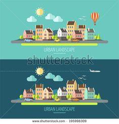 Residential Homes Stock Vectors & Vector Clip Art | Shutterstock
