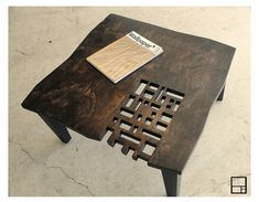 MSTRF // AD Block Rustic Coffee Table // Dark by MSTRF on Etsy, $399.00