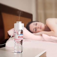 The Satechi USB Portable Humidifier creates a soothing personal space at home, the office, in a car, or traveling. To use, fill a bottle or cup with purified water, place the humidifier into the opening, making sure the filter is submerged, & plug the humidifier into a USB port for instant comfort. To turn off, unplug it or wait until it automatically shuts off after 8 hours. You can then refill the bottle & plug the humidifier into a USB port to turn it back on.