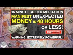 Manifest UNEXPECTED Money in 48 Hours or Less | Guided Meditation [Extremely Powerful!!] - YouTube Guided Meditation, Law Of Attraction, Money, Consciousness, Business Ideas, Entrepreneur, Youtube, Knowledge, Youtubers