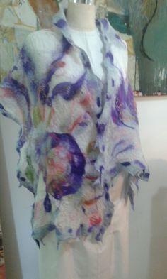 #Nunofelting #flowers #feltart #shamneArt Nuno Felting, Felt Art, Tie Dye, Flowers, Women, Fashion, Strands, Felting, Creative