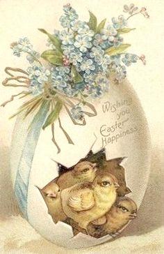 .vintage post paaskaart,.................................lb