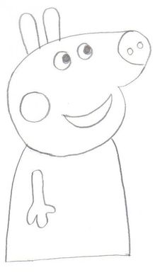 Draw In The Arm At Side Of Peppa Pig