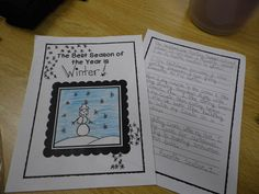"Persuasive - We completed a persuasive/opinion piece of writing on ""Our Favorite Season.""  We read several anchor texts modeling the the elements of this genre.  They included: ""I Wanna Iguana"", ""Hey, Little Ant"", ""Earrings""      The children had to pick their favorite season and come up with reasons to support their topics.  We used a graphic organizer before we began writing.   They wrote five paragraphs; intro, 3 paragraphs with reasons and a closing."