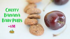 Cherry Banana Baby Puffs +6m recipe - Dairy Free and GF Baby Puffs, Recipe Instructions, Kid Friendly Meals, Baby Food Recipes, Dairy Free, Cherry, Banana, Homemade, Cooking