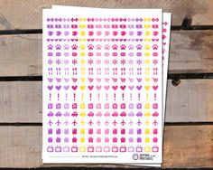 You will download these planner stickers, that fit the Erin Condren Life Planners, The Happy Planners, PPP, KikkiK, Kate Spade or other brands that fit these sizes.  This i... #cutestickers #pink