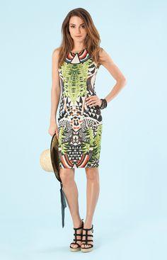   Klaudia Neoprene Dress   Womens Dresses   Hale Bob Dresses - Hale Bob