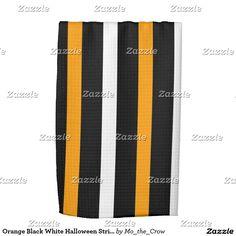 Orange Black White Halloween Stripes Kitchen Towels