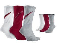 1f9429283 Mens Nike Swoosh Crew Socks 3 Pair Fits Shoe Size 8 - 12 for sale online |  eBay