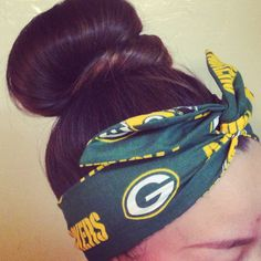 Green Bay Packers Dolly Bow Headband by Eindre on Etsy, $16.00