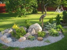 Garden Landscaping with Stones | Upcycle Art (shared via SlingPic)