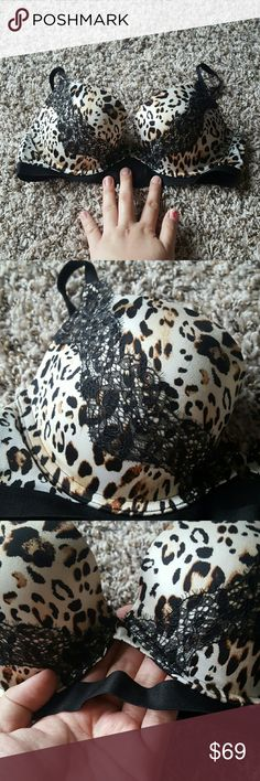 🎉FINAL SALE!🎉 VS Very Sexy Push-Up Bra Purchased off posh from seller. Gorgeous conditon! No flaws whatsoever! Cute leopard print! Just not a push up bra gal! I was misinformed from posher that this was a balconet and it is not! Dont let this one get away! Victoria's Secret Intimates & Sleepwear Bras