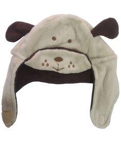Bear Patch Beige Fur Cap - Open Straps