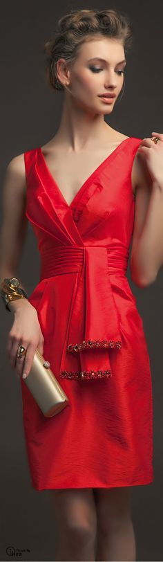 Aire Barcelona ● 2014 - red bridesmaid dress