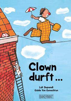 Clown+durft+...+op+een+wild,+wit+paard+rijden,+alleen+zijn+in+de+donkere+nacht,++een+poesje,+redden+op+een+hoge+tak+...++en+nog+veel+meer.+Maar+clown+durft+niet+voor+kijk-ogen+te+staan+in+de+circustent.++'Misschien+durven+we+samen,+jij+en+ik?'++Clown+durft+...+brengt+kinderen+dichter+bij+de+grenzen+van+hun+eigen+(niet)durven. + + Thema's:+clown,+circus,+niet+durven,+bang+zijn,+angst,+schaamte,+opvoeden,+carnaval