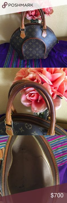 Louis Vuitton Ellipse Pm Very cute bag, well loved has ink stains inside the bag, leather has patina, no odor, comes from smoke free home, pet friendly home, Louis Vuitton Bags Satchels