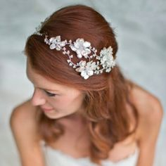 Beautiful bridal adornments by Hermione Harbutt - these are some of the prettiest headpieces I've ever seen!