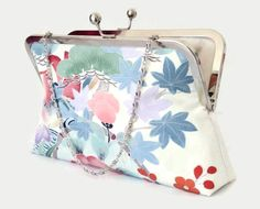 Floral Silk Clutch Purse In Pastel Colours by SimplySilkScarves