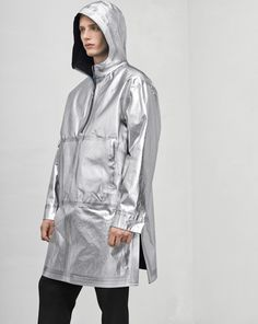 Jael is a loose-cut reversible weatherproof Anorak that works perfectly on its own or as a layering piece. Raincoat, Menswear, Man Shop, Jackets, Shopping, Fashion, Rain Gear, Down Jackets, Moda