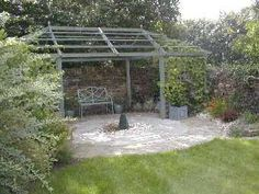 Arbor for the end of the garden. A little too big but interesting shape when covered with climbers.