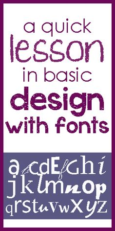 Tips for working with fonts (typography) in your projects