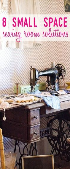 sewing room decor | small space sewing ideas | sewing nook | sewing craft room | sewing room organization | sewing cabinet