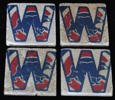 Chicago Cubs Coasters by StarrBridge on Etsy