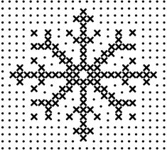 Cross stitch snowflake...
