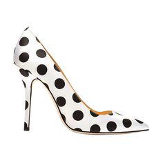 Oscar de la Renta Mimi satin polka-dot pumps, $625 at Moda Operandi