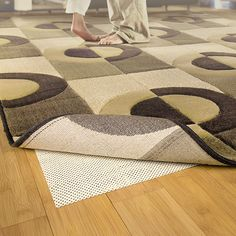Durable rug pad keeps area rugs firmly in place.