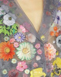 #christopher kane #lfw #flowers #flowertop