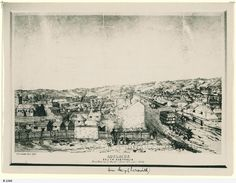 Family History Fossicking. View of Adelaide from West end of Hindley Street 1849. State Library of South Australia B 2268