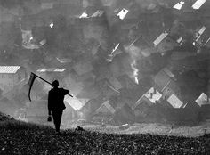 "ardora: "" Martin Martinček, Ráno ('In the morning'), Slovakia, undated. Martin Munkacsi, Bratislava, Love Painting, Art Festival, Photomontage, Map Art, Photojournalism, Farm Life, Black And White Photography"