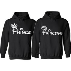 Prince And Princess Couple Hoodies For Her For Him Unisex Sizes,So... ($45) ❤ liked on Polyvore featuring intimates