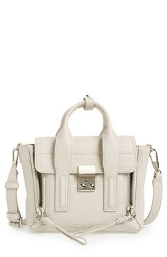 Free shipping and returns on 3.1 Phillip Lim 'Mini Pashli' Crossbody Satchel at Nordstrom.com. Exposed-zip gussets and gleaming metallic hardware complement the clean, sophisticated silhouette of a structured signature satchel crafted from a mix of smooth and iridescent snake-embossed leather for a hint of exotic edge.