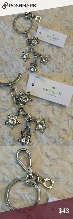 Kate Spade NWT Silver Stars Keychain Kate Spade NWT Silver Stars Keychain Kate Spade  Accessories Key & Card Holders