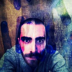 [Touched By The Blue] {Husband Version} #experimental #eyes #eyebrows #proyect #andrography #art #dreams #face #feelings #fingers #head #hairy #hands #lips #conceptual #concept #blue #beard #bearded #colors #me #husband #multiexposure #moods #surrealism #
