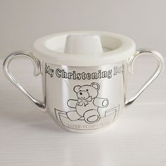 This christening cup can be engraved with the name of your child, the location of the christening & the date. A great keepsake for a child to hold dear. Shop now!