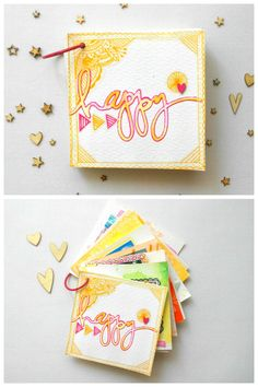 "Menuda Monada : Mini ""Happy""...con amigas, siempre! Scrapbook Albums, Scrapbook Cards, Personalised Calendar, Minis, Pocket Letters, Mini Books, Couple Gifts, Scrapbooks, Decoupage"
