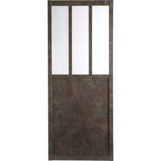 Porte coulissante verre tremp rev tu atelier artens 204 - Porte coulissante style atelier ...