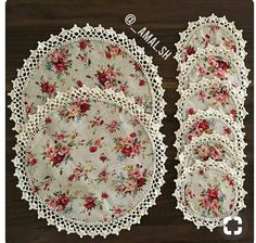 Best 12 Trendy Crochet Edging On Fabric – SkillOfKing. Crochet Fabric, Crochet Quilt, Crochet Home, Love Crochet, Crochet Crafts, Crochet Doilies, Crochet Stitches, Fabric Crafts, Crochet Projects
