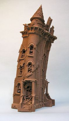 City Buildings - John Brickels - Stoneware Clay Artist