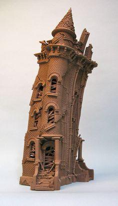 City Buildings - John Brickels - Stoneware Clay Artist