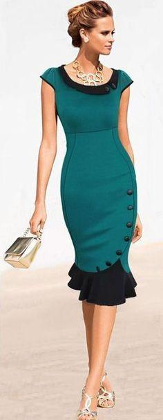 Jade Ruffle Bodycon Dress ღ