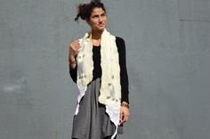 White nuno felted Scarf felted lace scarf by ContemporaryFeltArt
