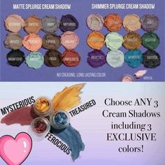 HELLO DECEMBER KUDOS 🤩✨ You choose any 3 Moodstruck Slurge cream shadows for $59 😱 And check out these Limited Edition metallic colors- SO gorgeous! ✨Mysterious (maroon) ✨Treasured (gold) ✨Ferocious (slate blue) https:// www.youniqueproducts.com/Rosemarie10/party/8399308/view #makeup #creameyeshadow #kudos