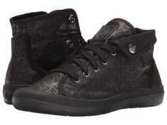 Palladium - Aventure (Black/Black/Spider Print) Women's Lace up casual Shoes