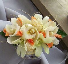 orange orchid and rose bouquets   Orange Orchids Prom Boutonniere [PROM180] - $14.99 : Terra Flowers ...